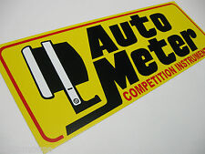 "Auto Meter,Competition Instruments,Tach,Sales,Service,Yellow Alum.,6""x17"",Sign"