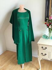 VINTAGE 50s GINA COUTURE GOWN SATIN & VELVET STARLET OWNED DIVINE RETRO WEDDING