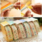 New Floral Sticker Tape Retro Pastoral Stationery Gift Craft Paper DIY Diary