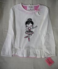 Girl's Ballerina Sparkle Long Sleeve Top 5/6 Years New With Tags