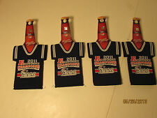 Patriots beer  bottle cooler holder Jersey LOT of 4 each our 2161