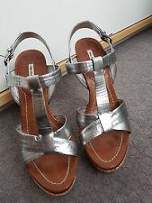 Miu Miu Silver Cork Heels 37.5 EU 130mm