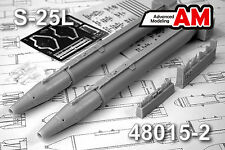S-25L Air Launched Guided Missile w/HE-Fragmentation Warhead  AMIGO RESIN 1/72