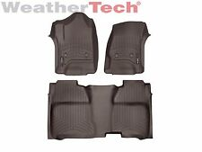 WeatherTech FloorLiner for Chevy Silverado HD Crew Cab - 2015-2016 - Cocoa