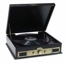 Pyle PTT30BK Bluetooth Vintage Style Turntable with AM/FM Radio and MP3 - B
