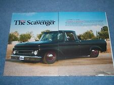 """1962 Ford F-100 Pickup Article """"The Scavenger"""" F100 Unibody"""