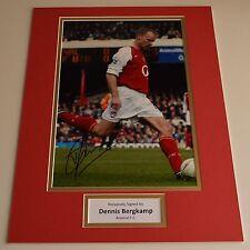 Dennis Bergkamp SIGNED autograph 16x12 photo display Arsenal Football AFTAL COA