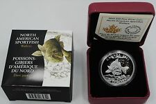 2015 Canada Walleye SPORTFISH 1oz $20 Silver Proof Coin RCM