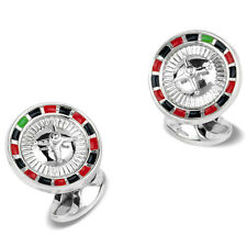 Deakin & Francis Sterling Silver Casino Roulette Wheel Gambler Cufflinks NEW