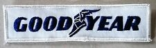 Vintage Sew-on Patch Goodyear Tires Dark Blue & White