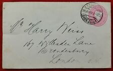 Cape of Good Hope- QV 1d Postal Stationery, Cape Colony Cancel to Brondesbury GB