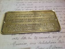 Brass plaque BOATING POOP DECK YATCHING SAILING collectable