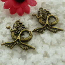 Free Ship 60 pieces bronze plated fairy charms 29x29mm #580