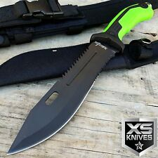 """13"""" TACTICAL ARMY SURVIVAL Rambo Hunting FIXED BLADE KNIFE Bowie w/ SHEATH"""