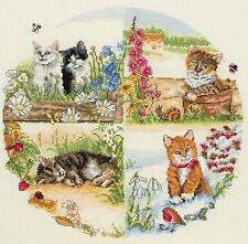 Anchor-counted cross stitch kit cats & seasons-PCE895