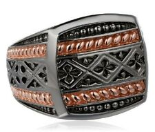 Amazon Collection Men's Sterling Silver Ring Size 10
