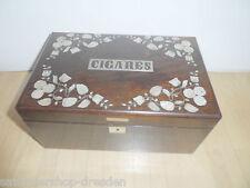 22144 Kästchen Biedermeier  Perlmutt Silber jewelery box Cigares Perl Stickerei