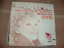 "PETULA CLARK "" DON'T CRY FOR ME ARGENTINA "" EVITA   ITALY'77"