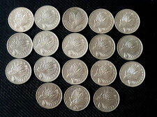 Complete set of 18 pcs. Singapore 50 cents Lion Fish coins - 1967-1984