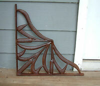 CATTAIL BRACKETS -  Set of TWO Iron Cast Wrought Garden Fence Gate
