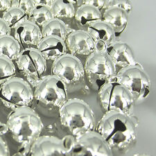 20Pcs silver Plated jingle bells christmas copper bells loose beads charms 16mm
