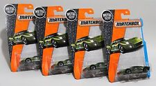FORD GT-40 * LOT OF 4 * 2017 MATCHBOX * GREEN w/ SILVER RACING DECO GT1 #12