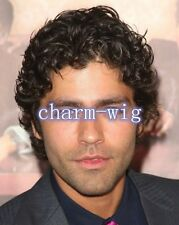 Fluffy Curly Black Short  Fashion Capless Heat Resistant Synthetic Wig For Men