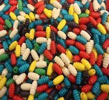 40 x Wooden Beads Honey Pot Shape Mixed Colours - BN68
