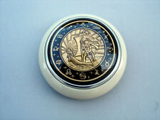 VW OVAL TYPE 1 2 BUG BUS PETRI ST CHRISTOPHER STEERING WHEEL HORN BUTTON IVORY