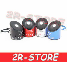 MINI CASSA SPEAKER PORTATILE REGISTRATORE REC RADIO FM MICRO SD PC MP3 USB