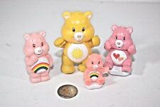 4 Vintage  Care Bear  Collectible Figure figurine lot 80's Retro Toy