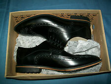 Clarks Men's Gatley Limit Dress Oxfords Size 8 Black Leather Wingtip 261030