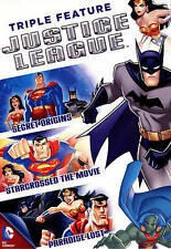 Justice League Triple Feature (DVD, 2014, 3-Disc Set)  BRAND NEW
