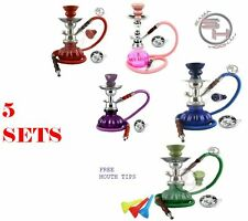 5 SETS Pumpkin Mini Hookah Single Hose Shisha Houka Glass Vase1  Hoes Mouth tips