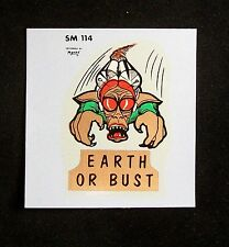 Vintage Original Monte Earth or Bust 114 Hot Rod Rat Water Decal NOS
