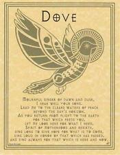 DOVE PRAYER Parchment Page for Book of Shadows!