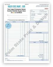 50 3 Part Contractors Invoice Receipt Work Order Carbon Copy Forms Book Sets
