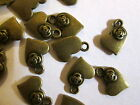 10 or 20 Bronze Metal Heart with flower Charms. Jewellery Embellishment
