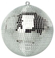 "New 300mm 12"" Silver Sparkling Disco Lights Halloween Party Large Mirror Ball"