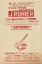 Publicité cyclisme vélo cycling bicyclette Cale pieds J. RUHIER 1949