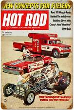 Hot Rod Magazine Drag Racing New Concepts 1970 Metal Sign Man Cave HRM021