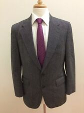 $465 Doncaster Imperial Men's USA Made Gray Textured Suit Size 38S 32x28
