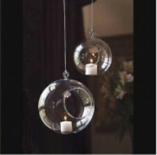 40 *8cm Small Glass Bubble Ball Hanging candle holder wedding centrepiece BULK B