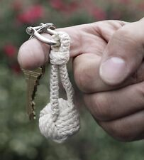 Kikkerland Nautical Rope Monkey Knot Keyring Metal Key Chain Maritime Gift Xmas