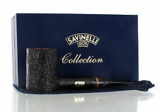 Pipe Savinelli Collection Pipe of The Year 2017 Sandblasted Poker Smooth Rim A