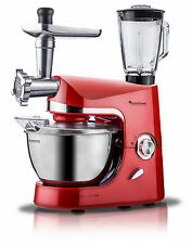 TurboTronic 2000W Food Stand Mixer With Blender & Meat Grinder RED