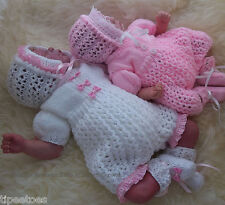 DK Baby Knitting PATTERN to KNIT Molly' Girls or Reborn Romper, Bonnet & Booties