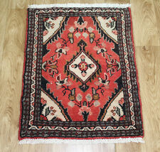 PERSIAN TRADITIONAL ANTIQUE Wool  60 X 50 CM ORIENTAL RUG HANDMADE CARPET RUGS