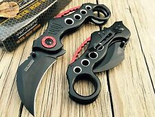 TAC FORCE Assisted Pocket Knives BIG KARAMBIT CLAW BLACK Blade Tactical Knife