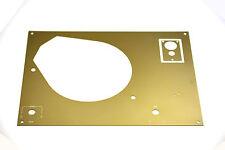 Thorens Deckplatte face plate matt gold TD 145 / 146 / 147 / 160 / 165 / 166